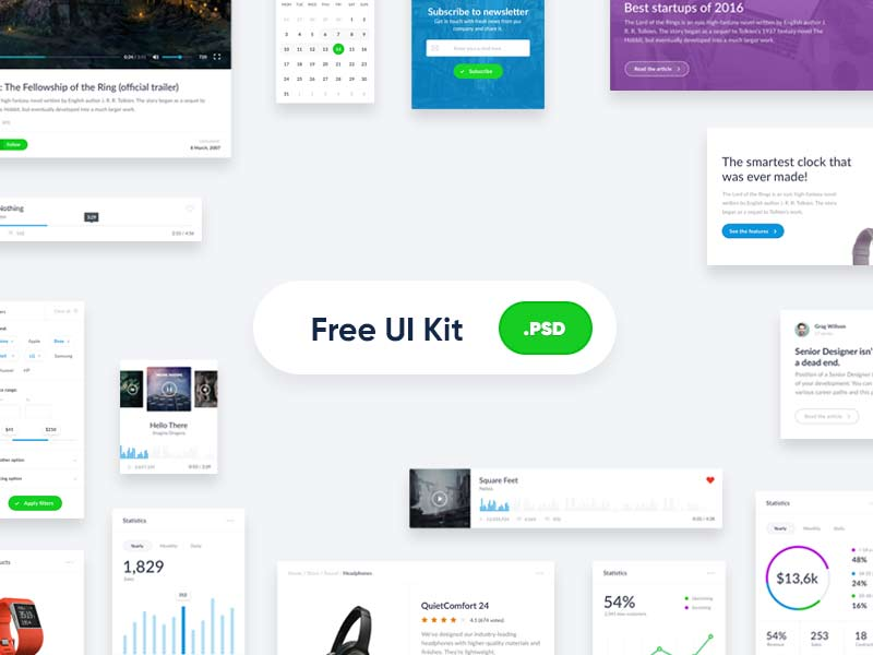Website Free PSD UI Kit