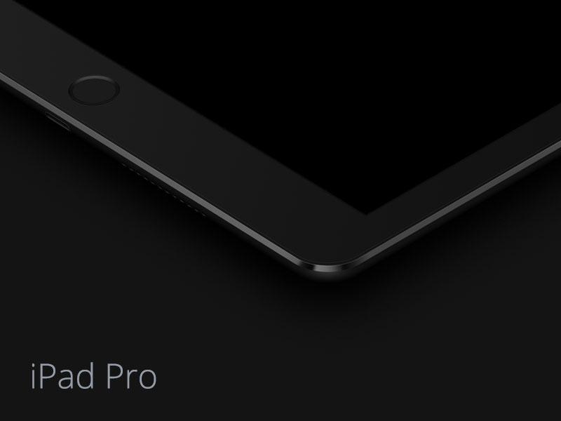 iPad Pro - Dark Mockup