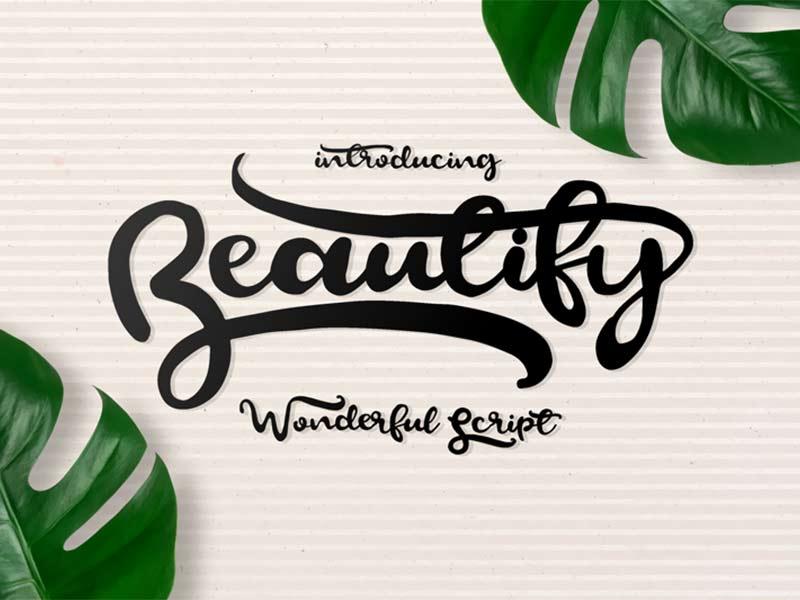 Beautify - Free Font