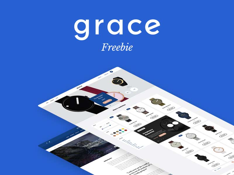 Grace UI Kit - Free PSD