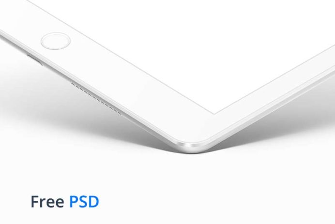 iPad White PSD Mockup