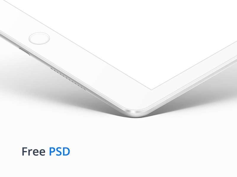 iPad White PSD Mockup