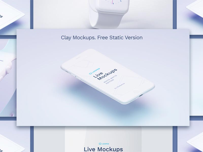 Apple Devices White Mockups for Sketch and Photoshop