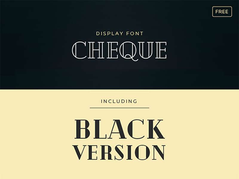 Cheque - Free Font