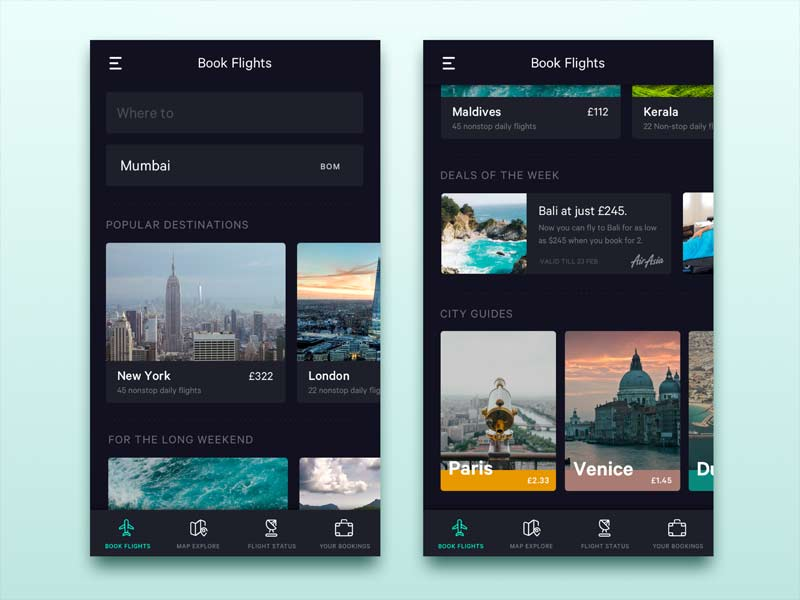 Flight App - UI Kit for Sketch