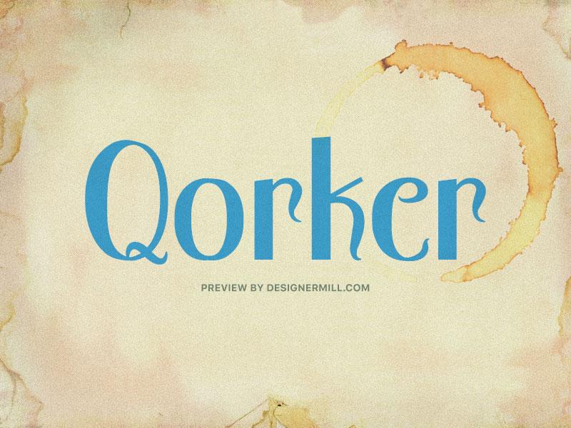 Qorker - Free Font