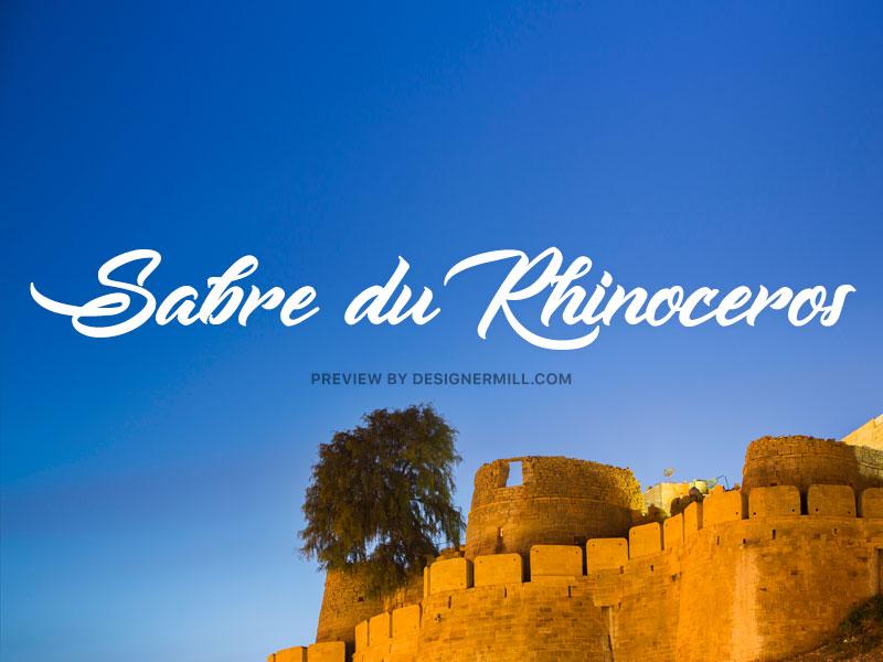Sabre du Rhinoceros - Free Font