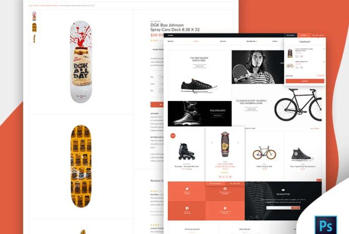 Shoplifter eCommerce Website Template