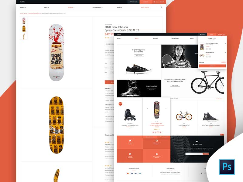 Shoplifter eCommerce Website Template