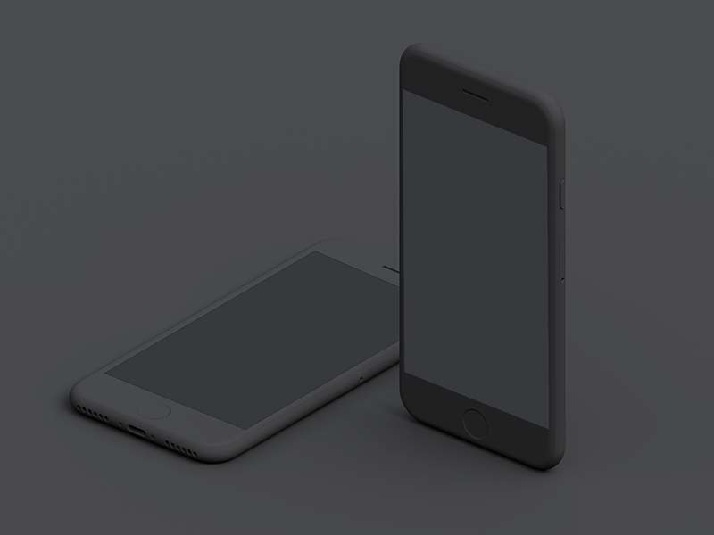 Simple iPhone Mockups - Dark