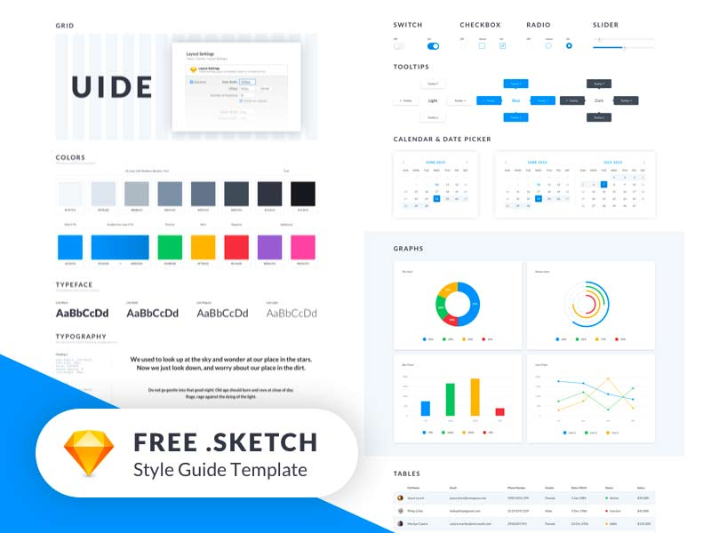UIDE - Free Sketch UI Kit