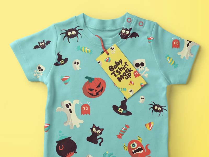 Baby T-Shirt - PSD Mockup
