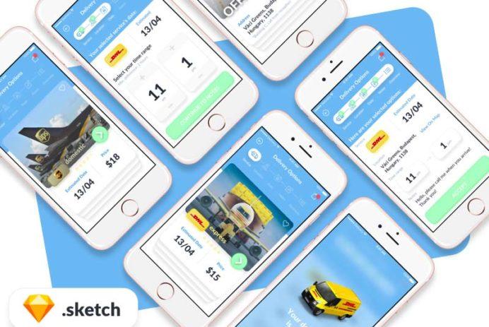Deliver App - Sketch UI Kit