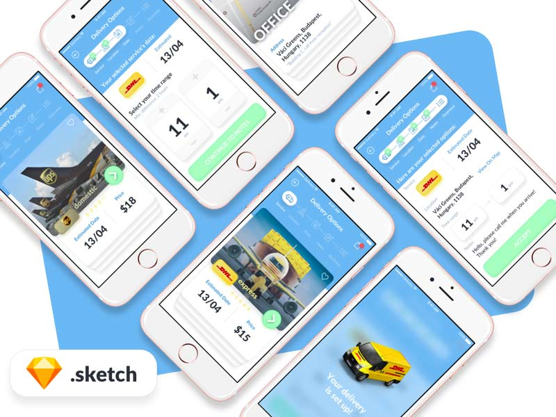 Deliver App - Sketch UI Kit