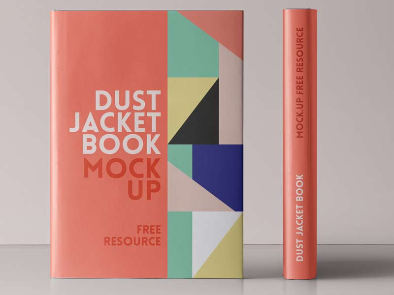 Dust Jacket Book PSD Mockup