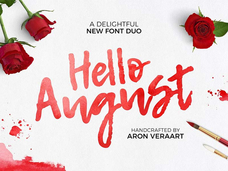 Hello August - Free Font
