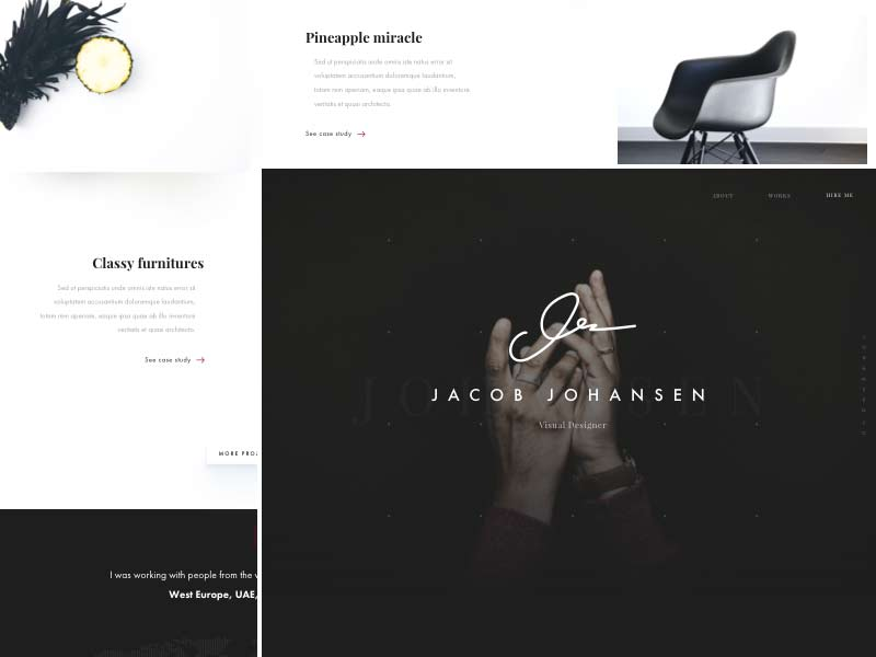 Portfolio Website Template for Sketch