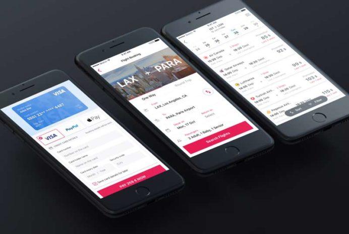 Flight Booking - App UI Kit for Sketch