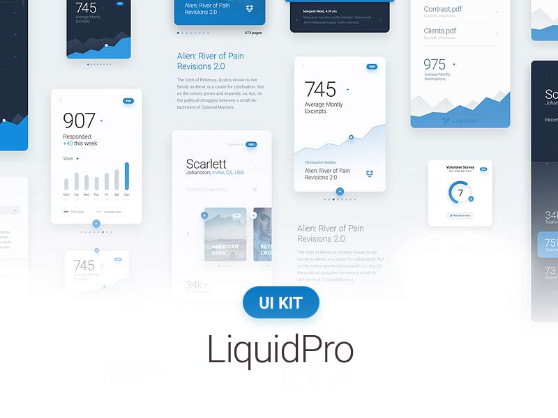 LiquidPro - PSD UI Kit