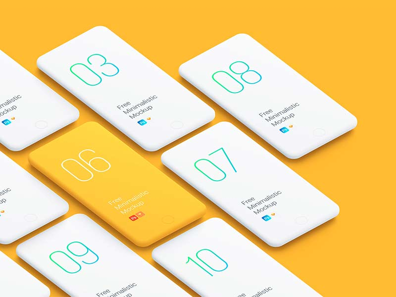 Minimalistic Phone Mockups for Sketch and Photoshop