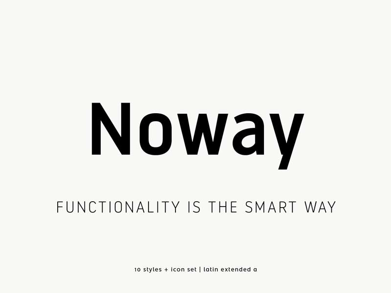 Noway - Free Font
