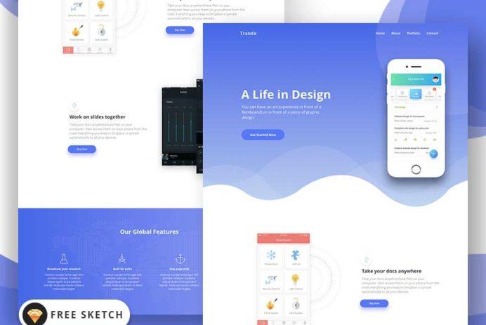 Trandx - App Landing Page Template