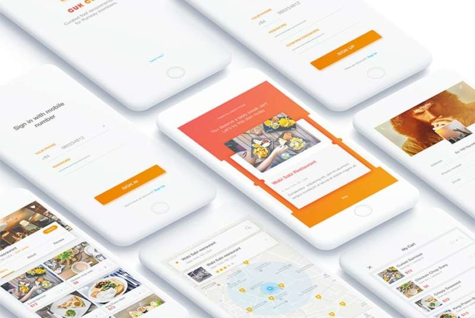 COOK - App UI Kit for Photoshop