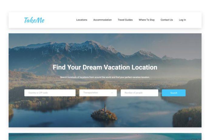 TakeMe - Travel Website UI Kit