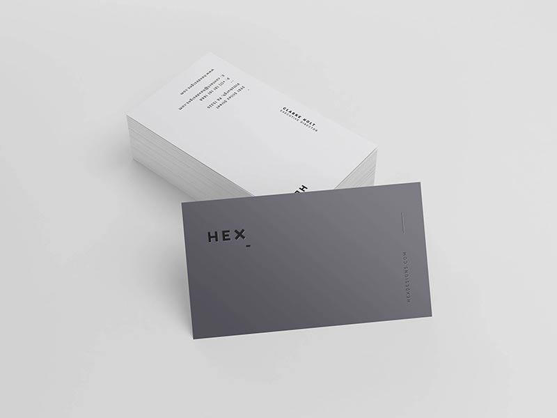 HEX Business Card Template