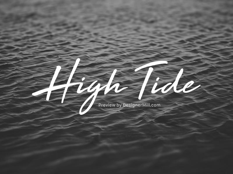 High Tide - Free Font
