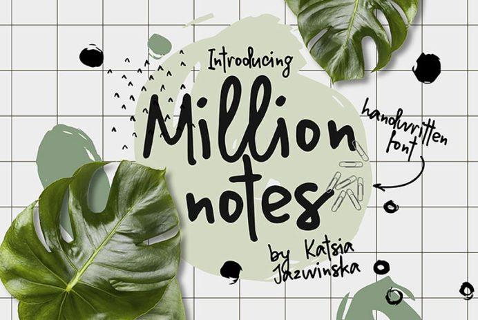 Million Notes Free Font