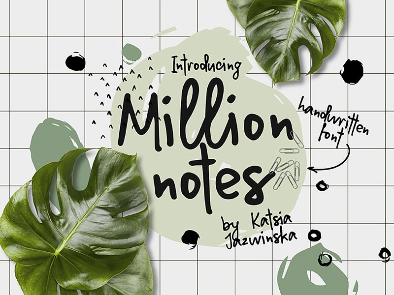 Million Notes Free Font