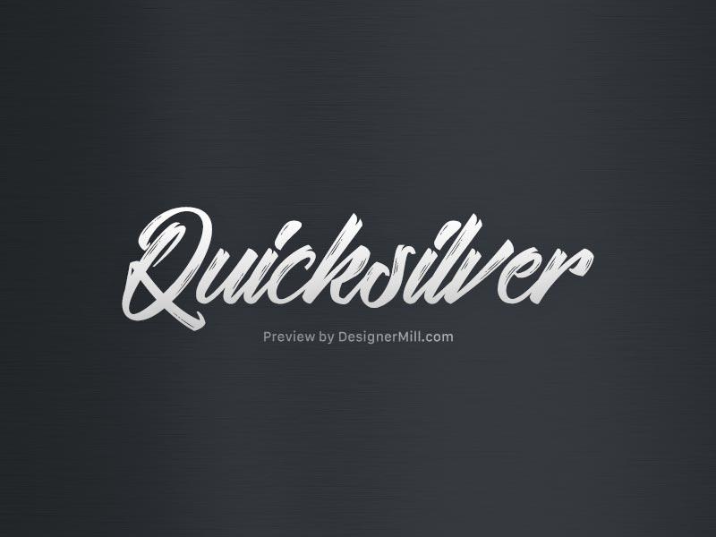 Quicksilver - Free Font