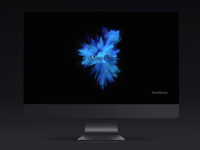 iMac Pro - Free PSD Mockup