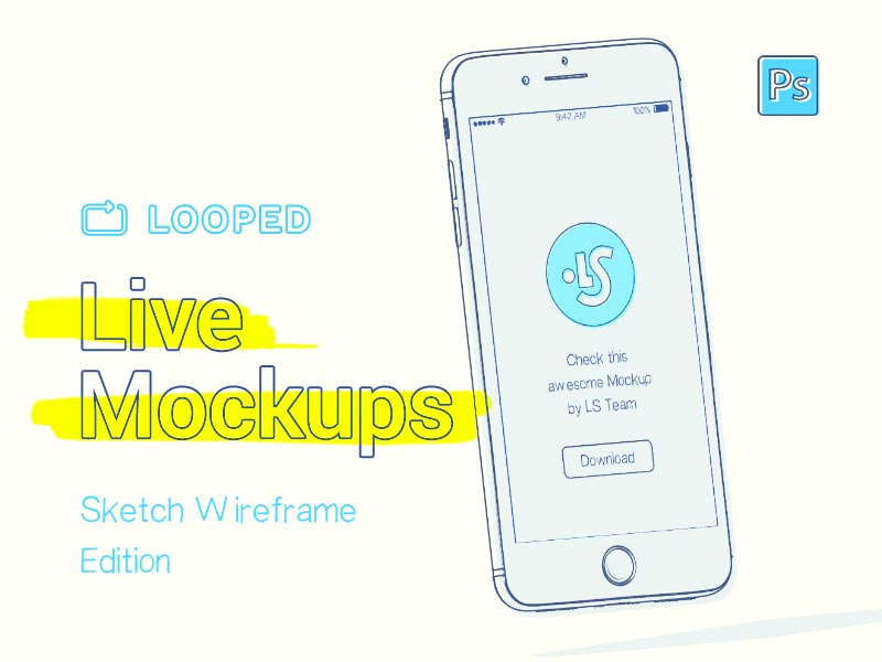 iPhone - Live Animated Sketchy Mockup
