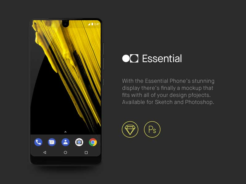 Essential Phone - Sketch & Photoshop Mockup