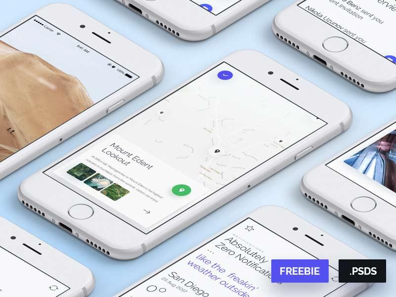Extreme Sports App UI Kit - Free PSD