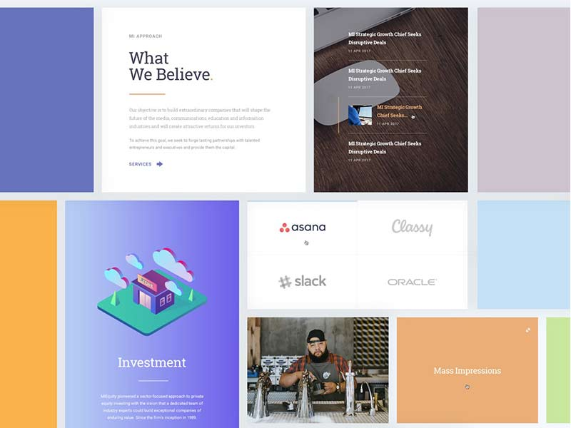 MIEQUITY - Website Free PSD Template