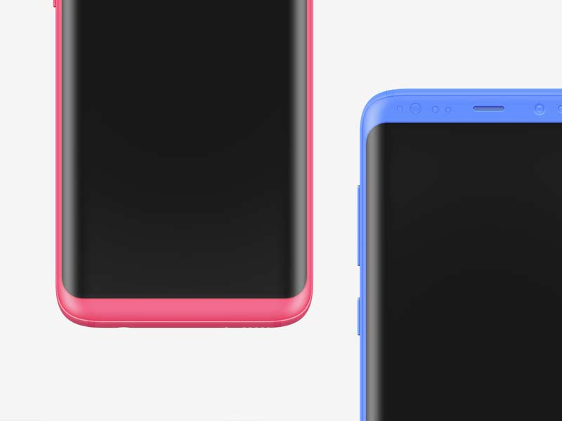 Samsung S8 Clay Mockups - PSD and Sketch
