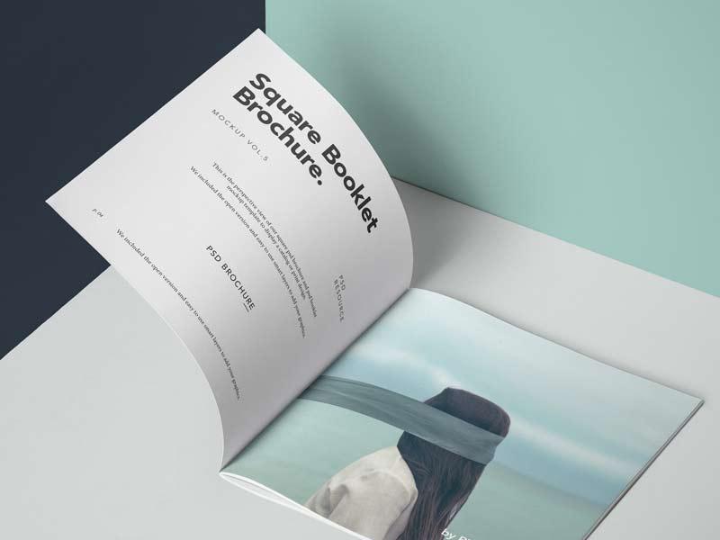 Square Brochure - Free PSD Mockup