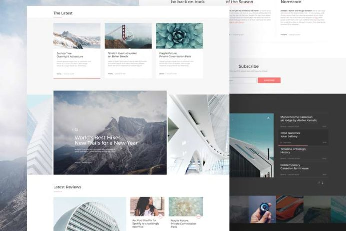 The Siren - Website Template for Sketch