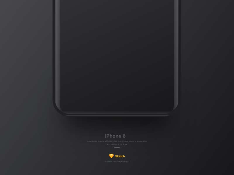 iPhone 8 Concept - Sketch Mockup