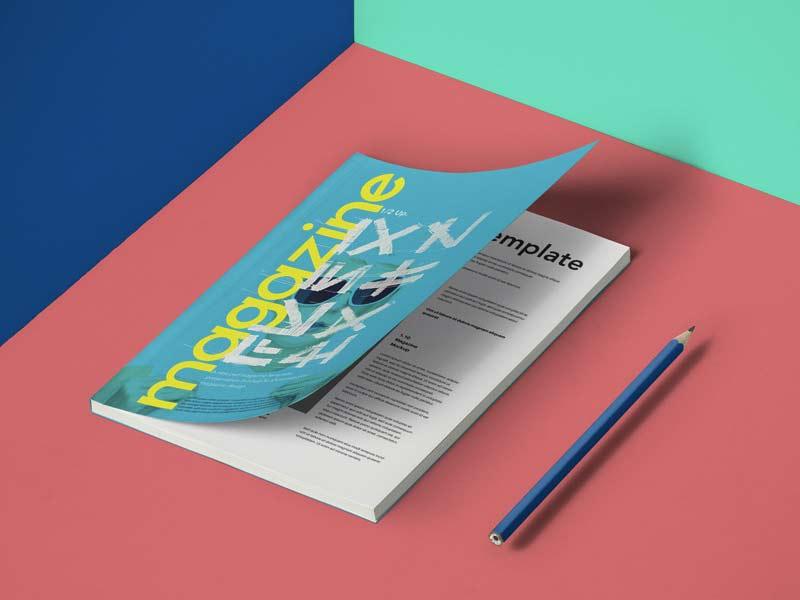 A5 Magazine Mockup - Free PSD