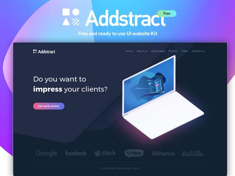 Addstract - Free Landing Page UI Kit