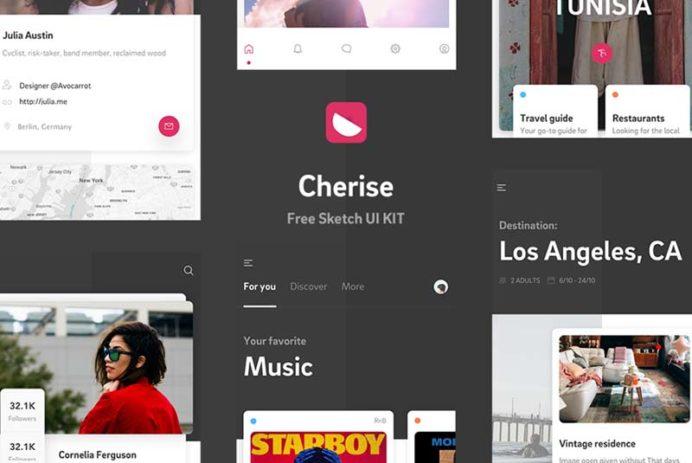 Cherise - Free UI Kit for Sketch