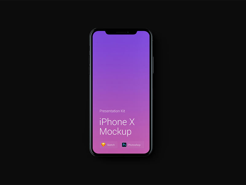 Free iPhone X Mockup for Sketch and Photoshop