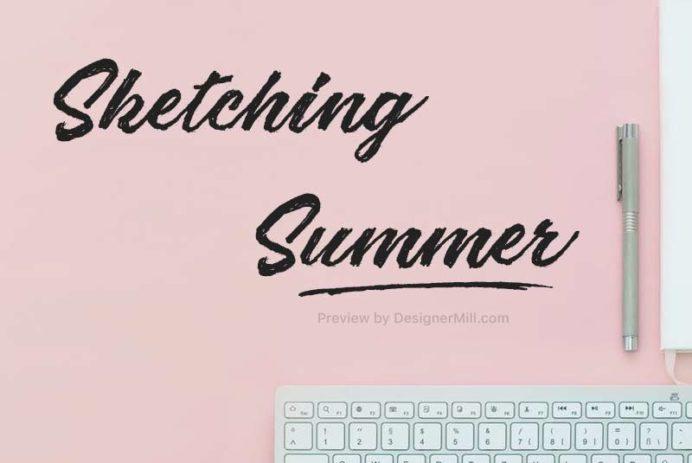 Sketching Summer - Free Font