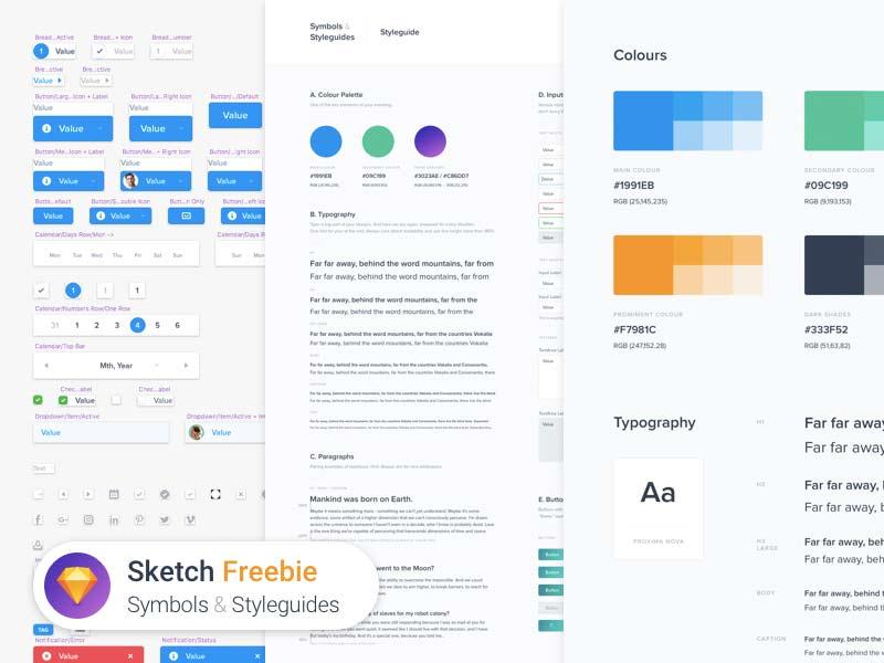 Symbols & Styleguides - Sketch Freebie
