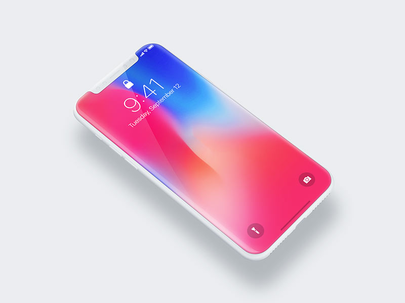 iPhone X - Free PSD Mockup