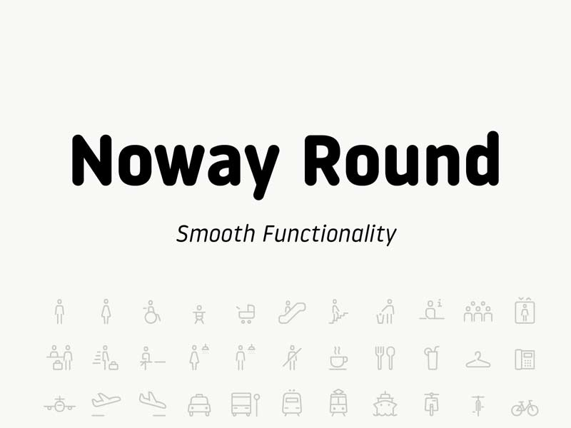 Noway Round - Free Font